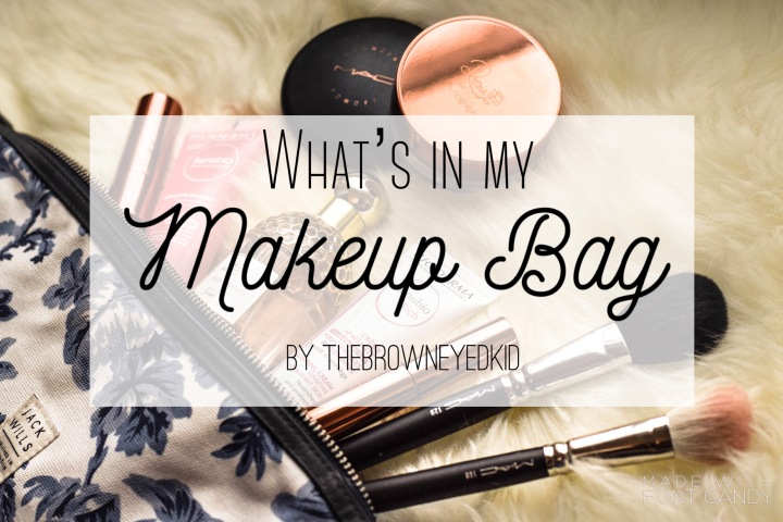 Make up bag and products