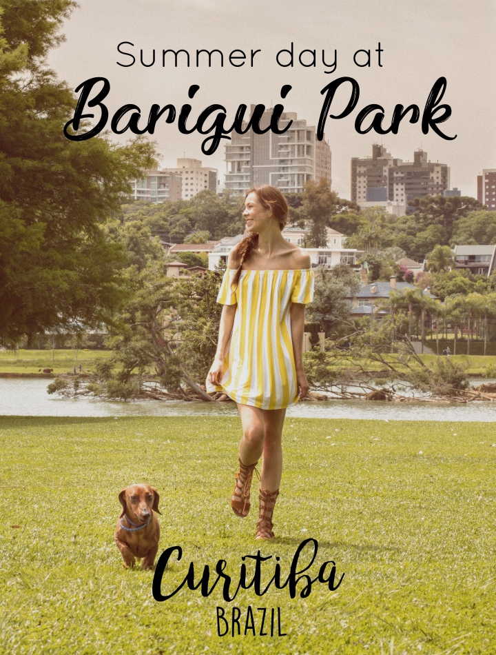 Barigui park with dachshund