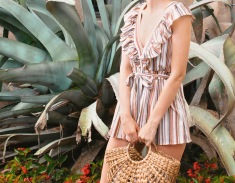 Moonriver Jumpsuit and rattan bag