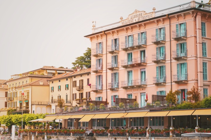 Old hotel at lake Como