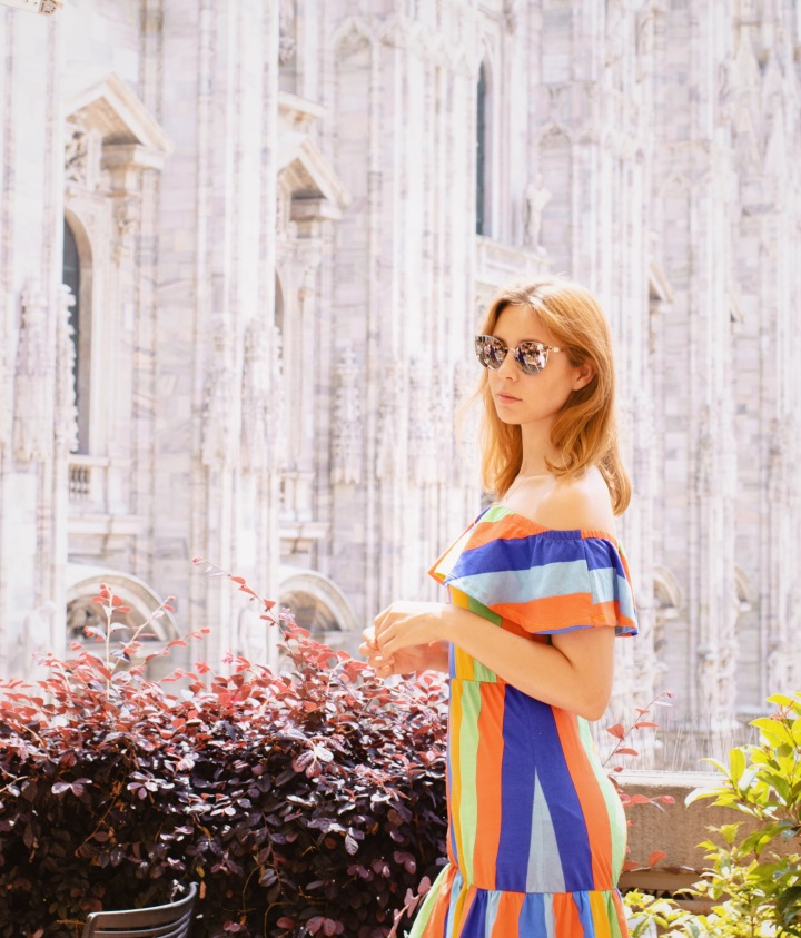 Striped asos dress in Milan