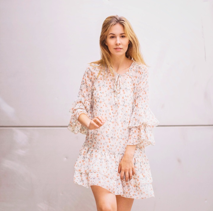 flowy white summer dress