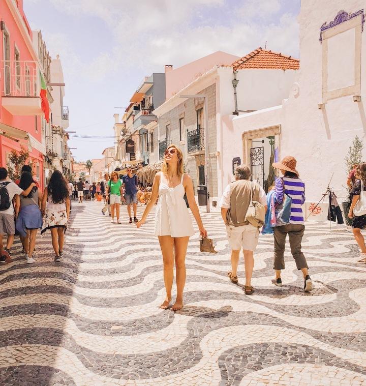 white summer dress worn in portugal