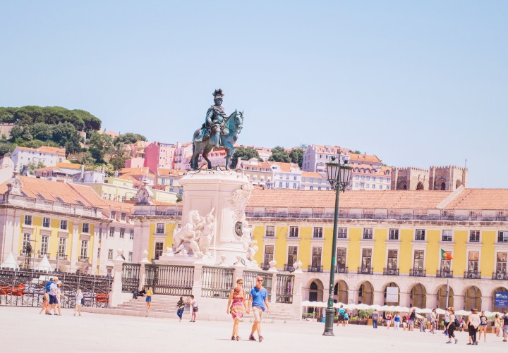 Plaza in Lisbon / Portugal