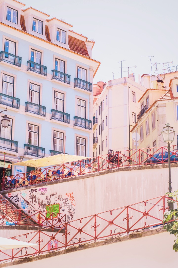 Houses and stairs in Lisbon / Portugal