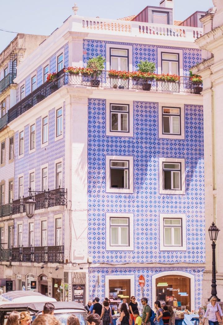 Blue tiled house in Lisbon / Portugal