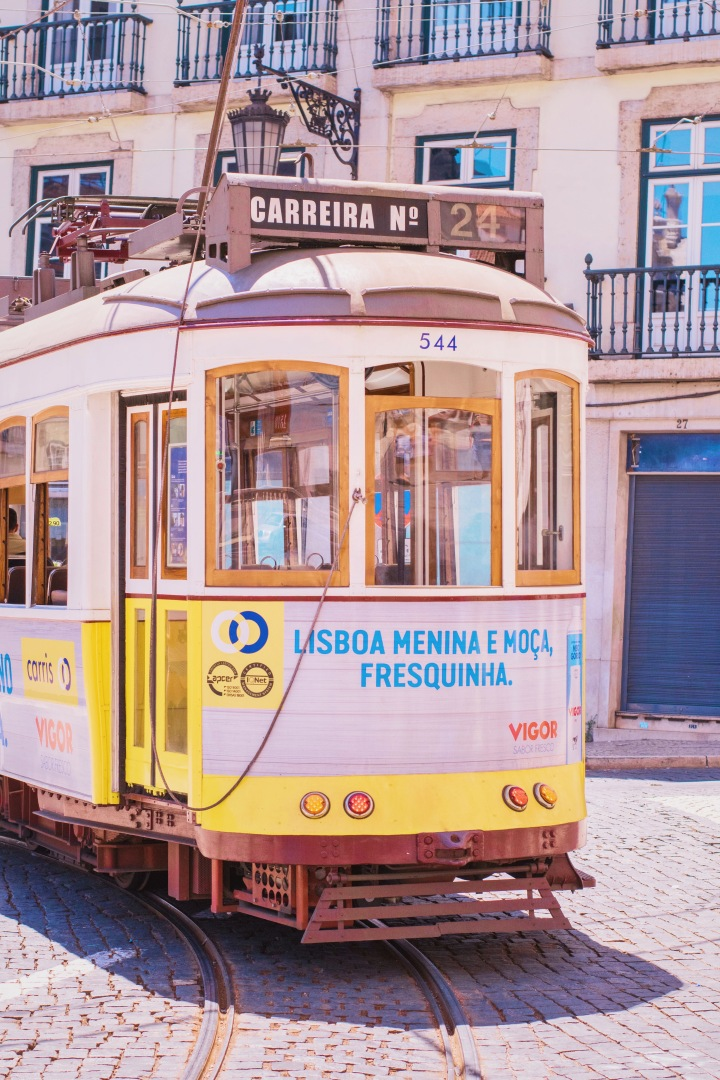 old Tram in Lisbon / Portugal