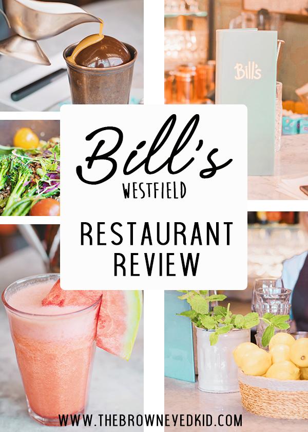restaurant review Bill's westfield